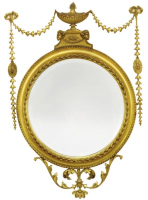 A LATE VICTORIAN GILTWOOD WALL