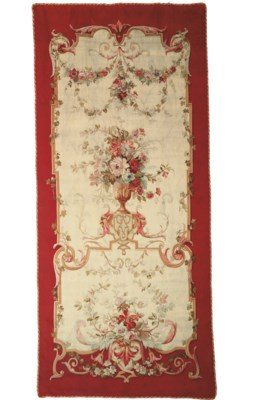 A LARGE AUBUSSON TAPESTRY PANE