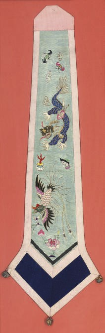 SIX CHINESE EMBROIDERED SILK P