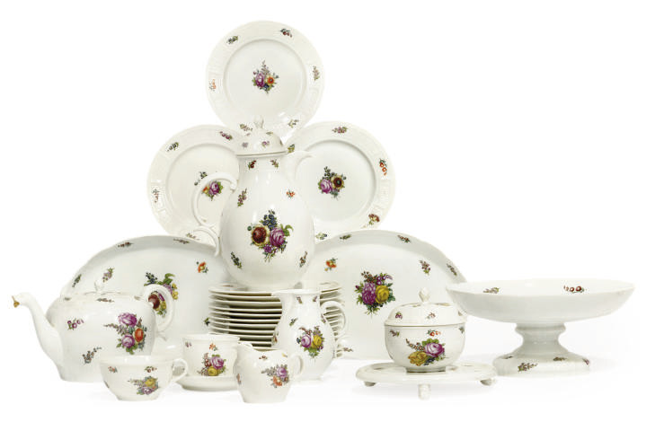 A NYMPHENBURG PART TEA AND COF