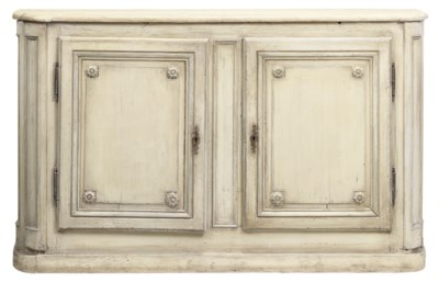 A WHITE PAINTED PINE SIDE CABI