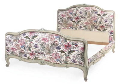 A FRENCH PAINTED BED