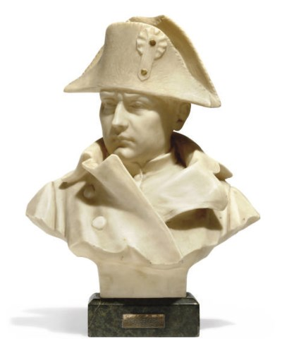 A FRENCH ALABASTER BUST OF NAP