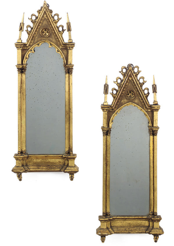 A PAIR OF FRENCH GILT WOOD  MI