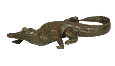 A FRENCH BRONZE MODEL OF A CRO