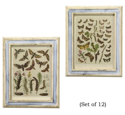 A SET OF TWELVE LITHOGRAPHED P