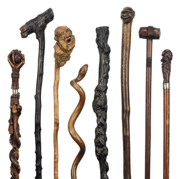 A COLLECTION OF EIGHT CARVED W
