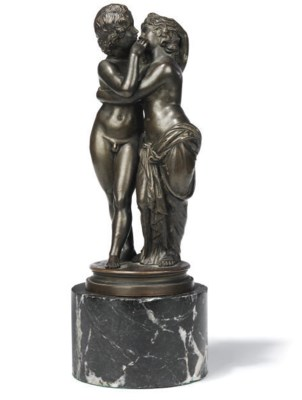 AN ITALIAN BRONZE GROUP OF CUP