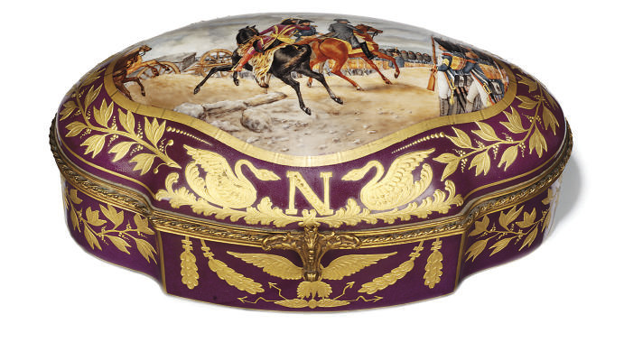 A FRENCH PORCELAIN AND GILT-ME
