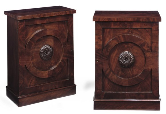 A PAIR OF MAHOGANY PIER CABINE