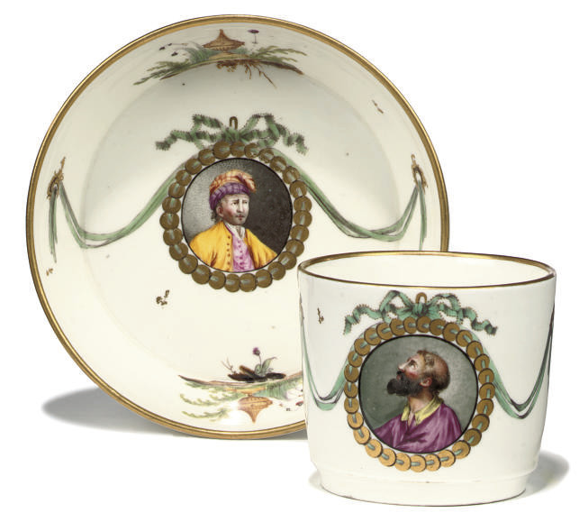 A HÖCHST COFFEE-CUP AND SAUCER