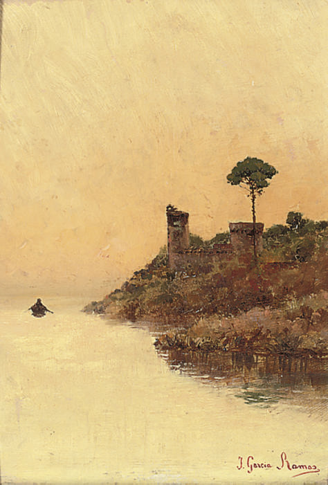 A fishing boat beside the shore