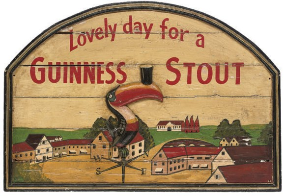 A Guinness wall plaque of a to