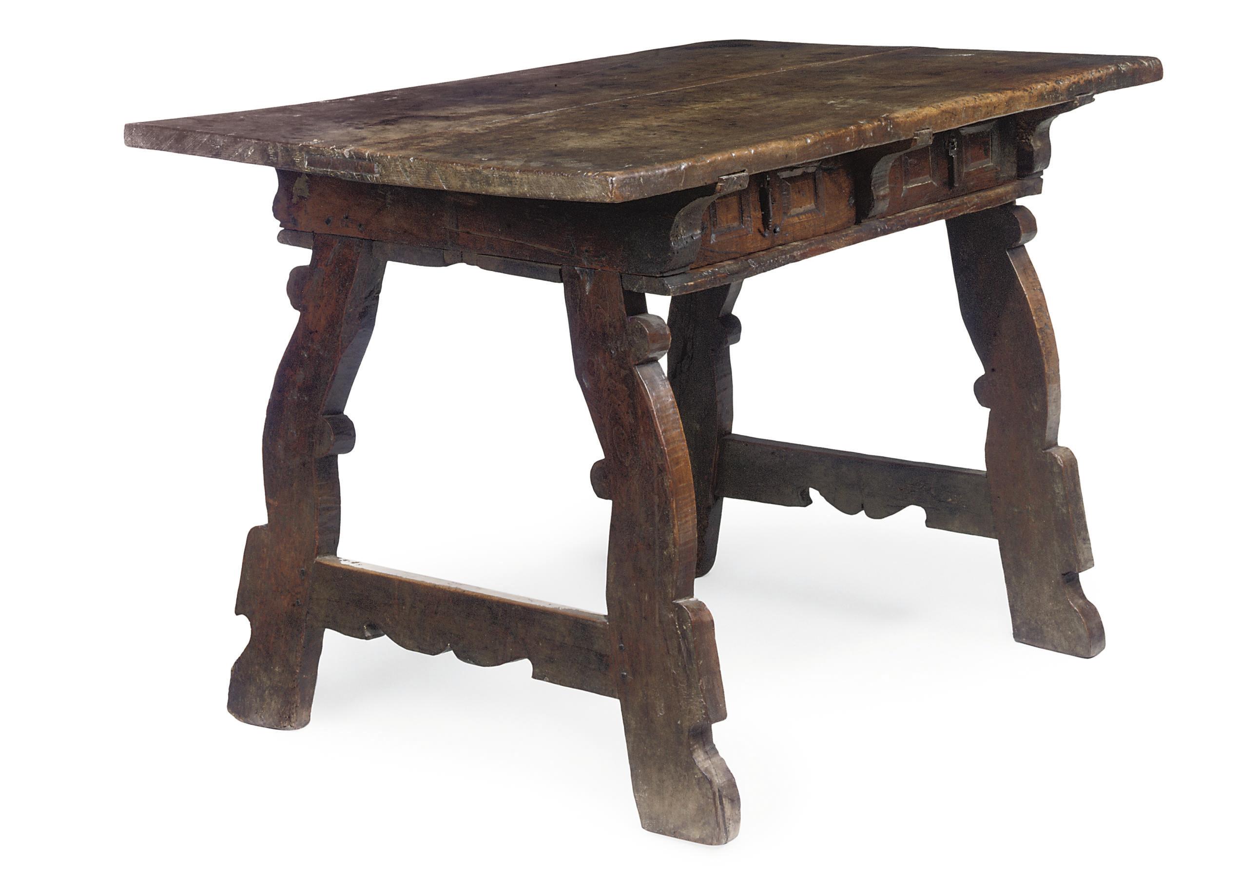 A SPANISH WALNUT TABLE