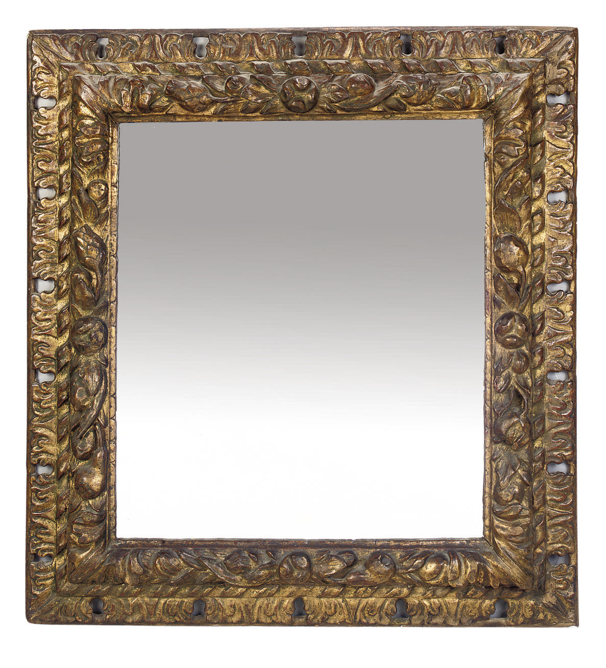 A SPANISH GILTWOOD PICTURE-FRA