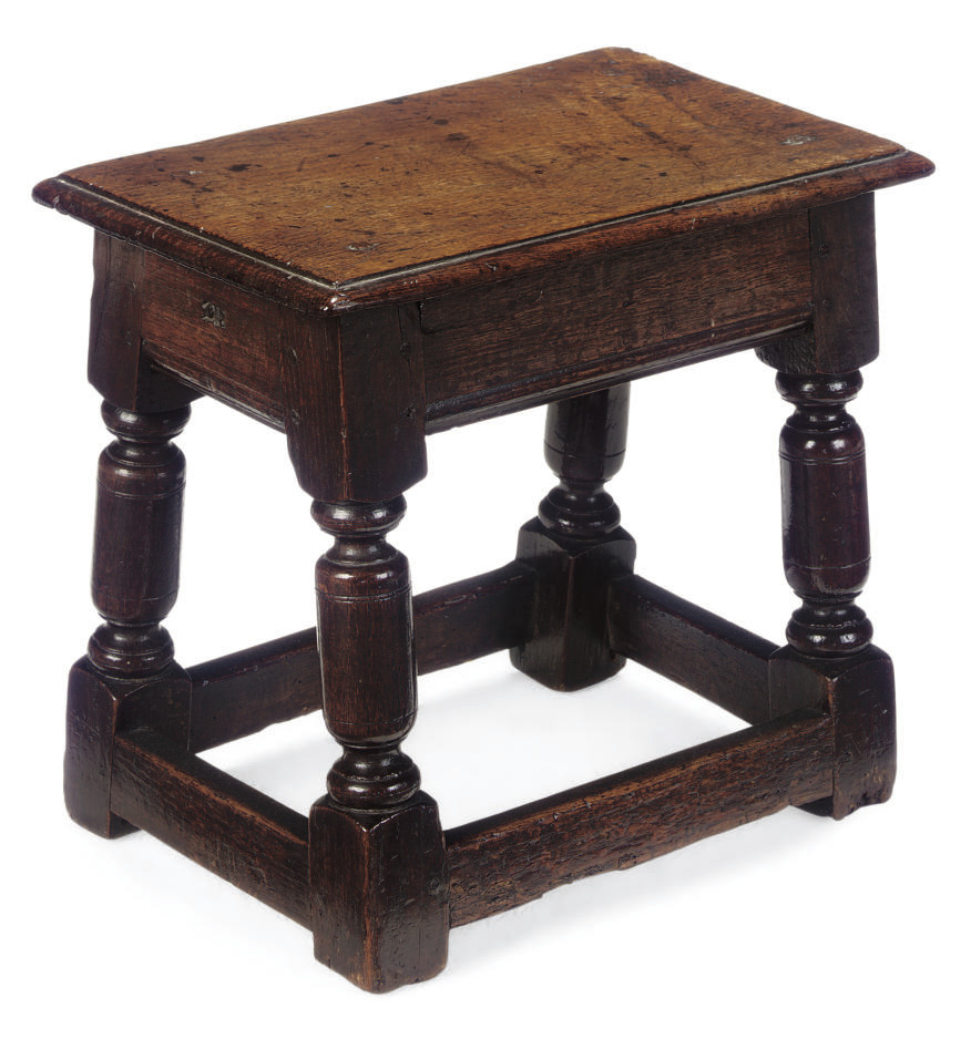AN SMALL ENGLISH OAK JOINED STOOL