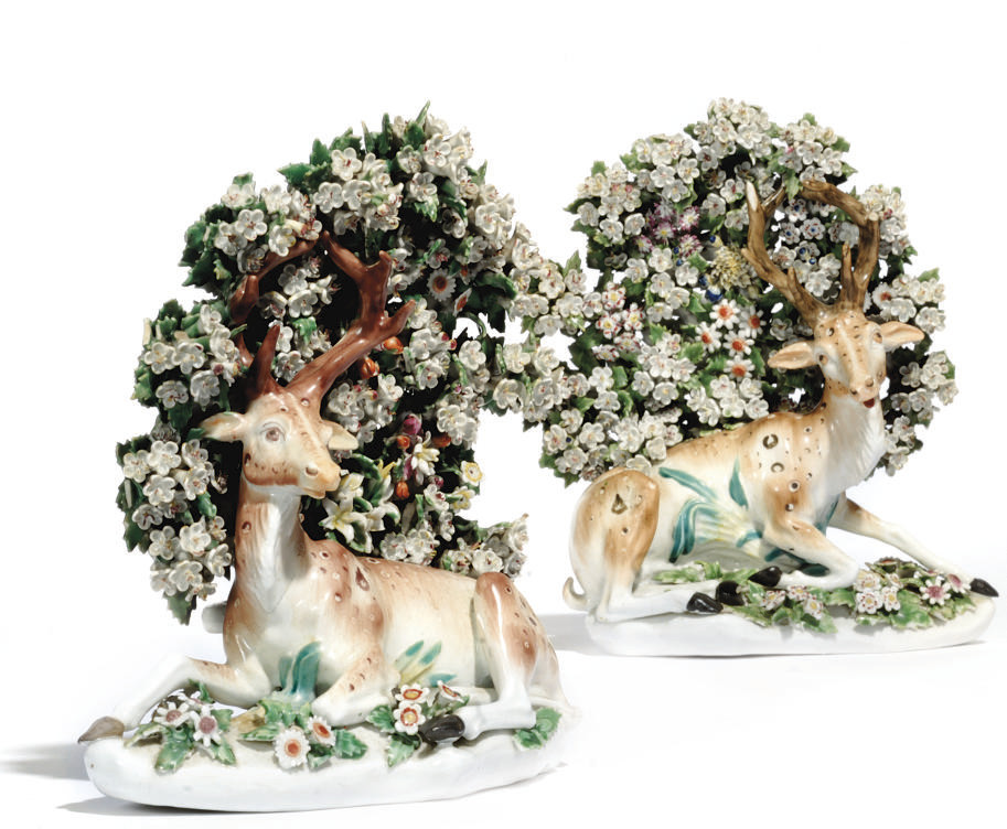 TWO DERBY MODELS OF STAGS