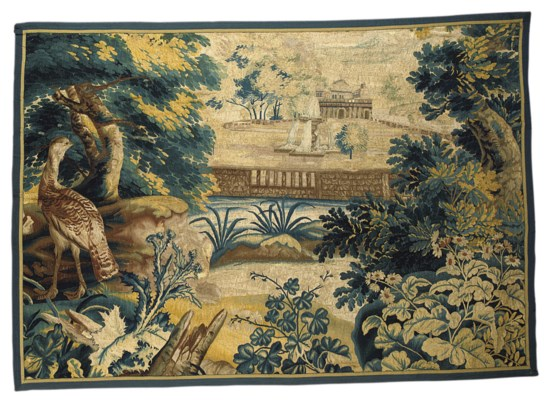 A FINE VERDURE TAPESTRY PANEL