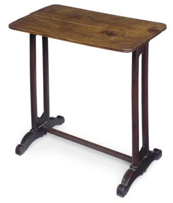 AN ENGLISH YEW WOOD TABLE