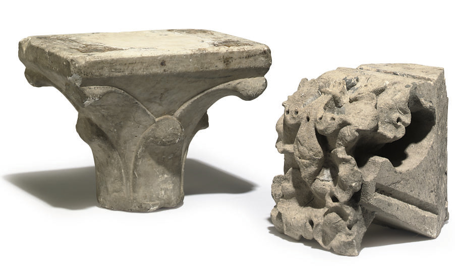 A CONTINENTAL WHITE-MARBLE CAPITAL