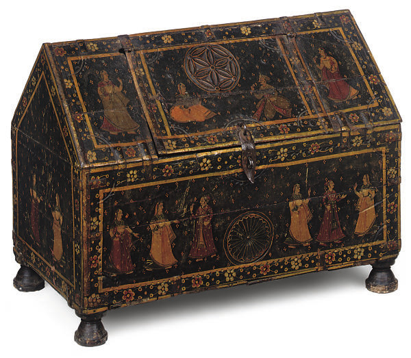A NORTH INDIAN PAINTED CHEST