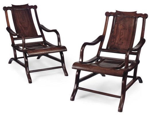 A PAIR OF ANGLO-CHINESE ROSEWO
