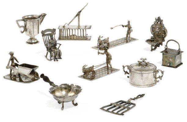 A GROUP OF DUTCH SILVER TOYS