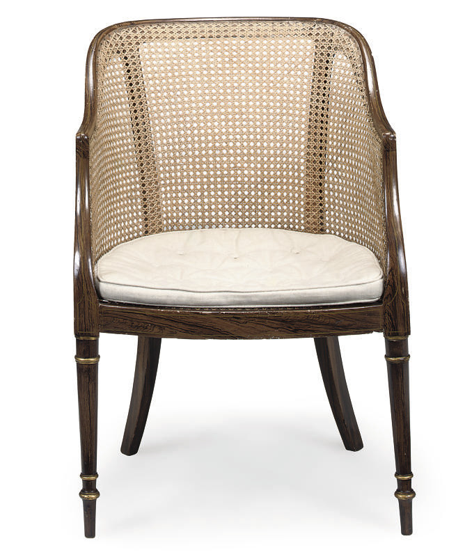A REGENCY SIMULATED ROSEWOOD C