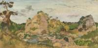 Landscape near Roquebrune, Provence