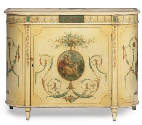 AN ITALIAN PAINTED CABINET