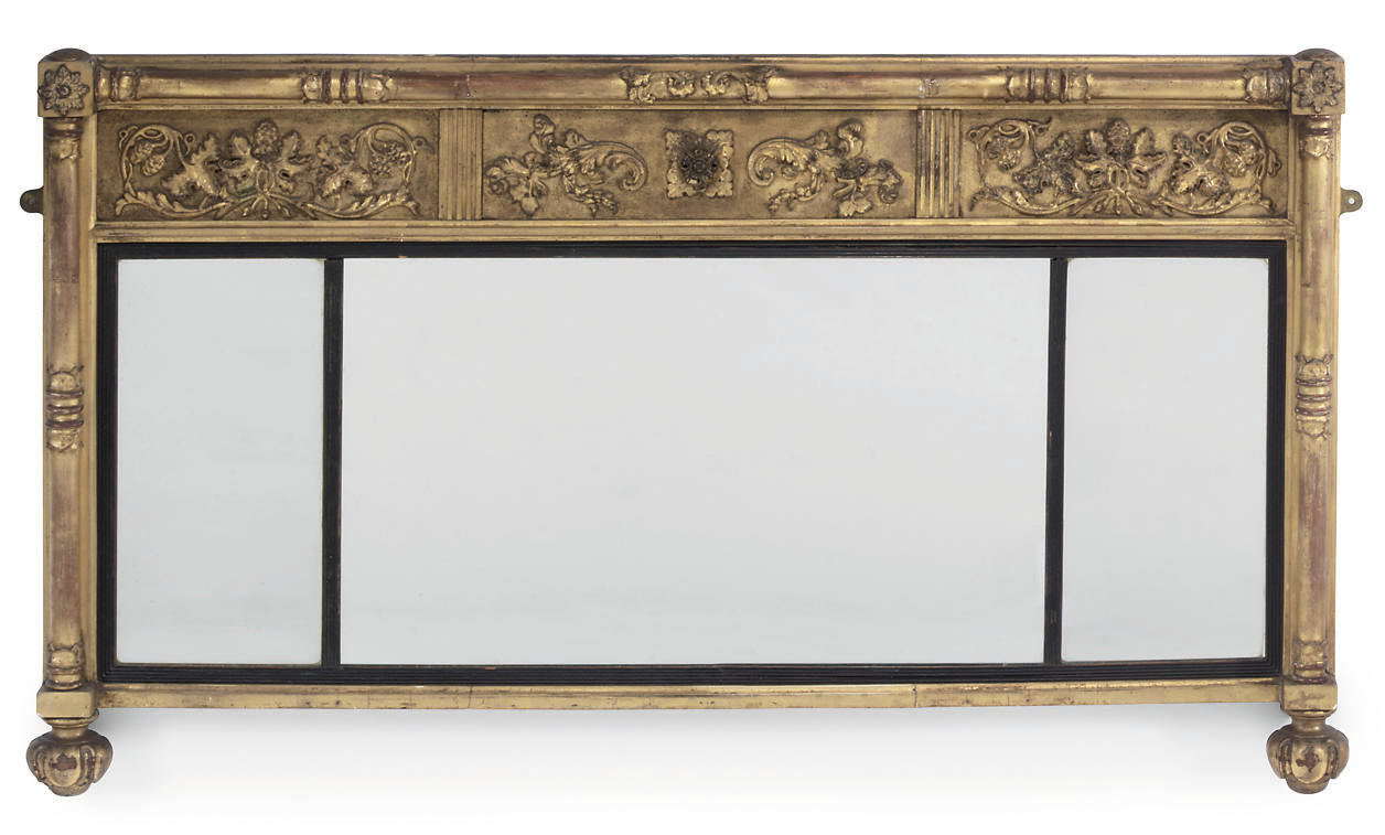 A REGENCY GILTWOOD AND GESSO O