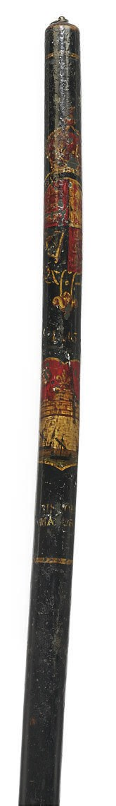 A VICTORIAN PAINTED WOOD HIGH