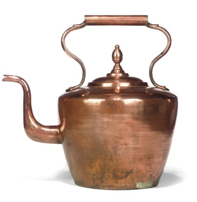 A LARGE COPPER KETTLE