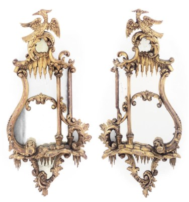 A PAIR OF VICTORIAN GILTWOOD W
