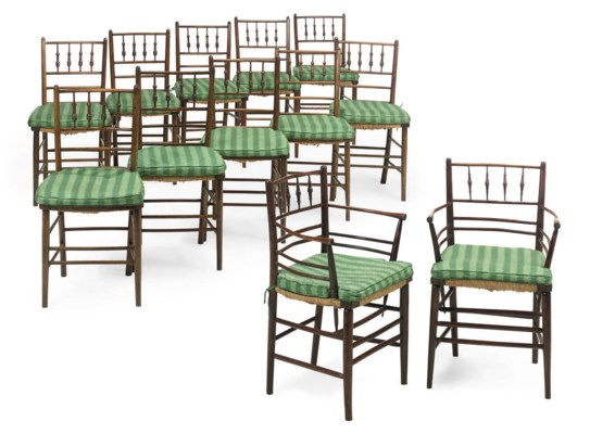 A MATCHED SET OF TWELVE BEECH