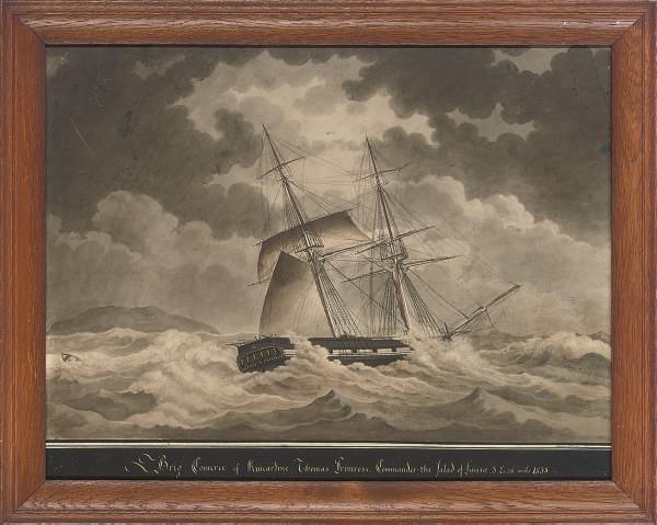 The Brig Comerce of Kincardine in stormy seas