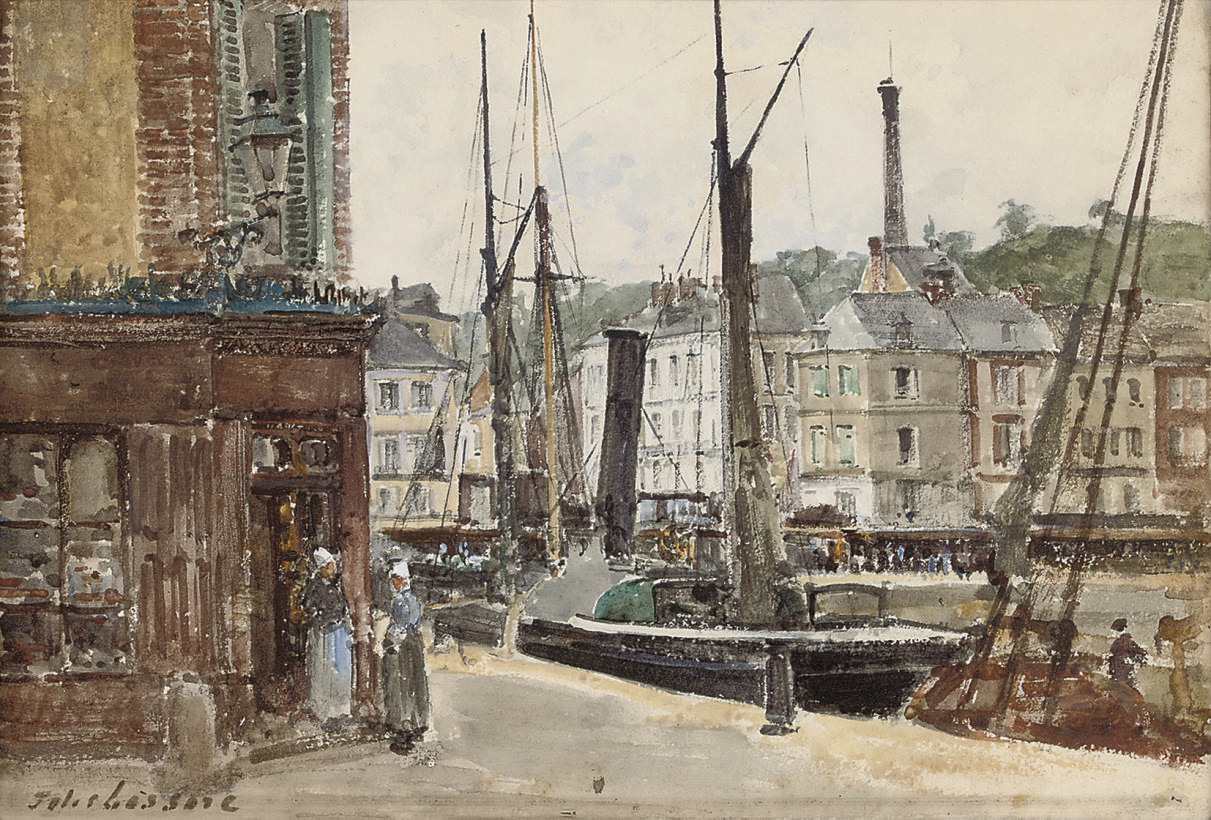 The harbour at Honfleur, Normandy