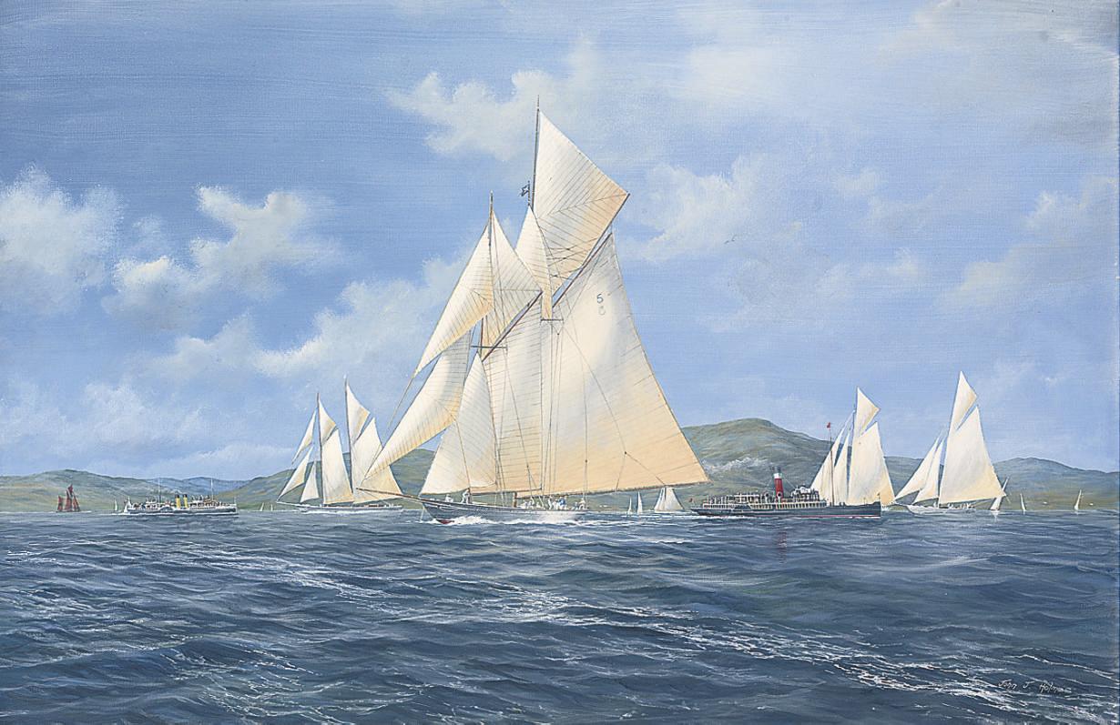 Westward leading the fleet, Marmion and Jeannie Deans astern