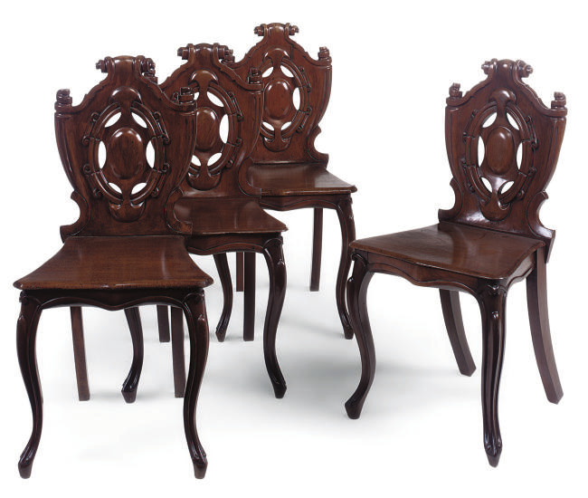 A SET OF FOUR MID VICTORIAN MA