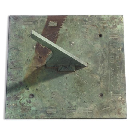 AN ENGLISH BRONZE SUNDIAL BY G