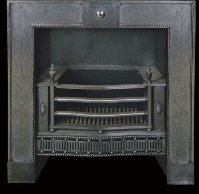 A LATE VICTORIAN CAST-IRON REG