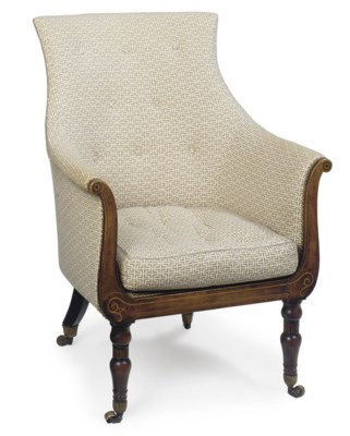 A REGENCY BEECH AND INLAID BER