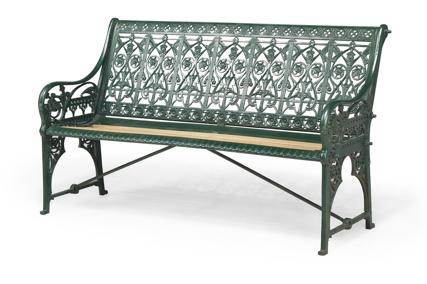 Admirable A Victorian Cast Iron Medieval Pattern Garden Seat By Machost Co Dining Chair Design Ideas Machostcouk