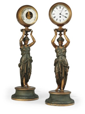 A PAIR OF FRENCH GILT SPELTER