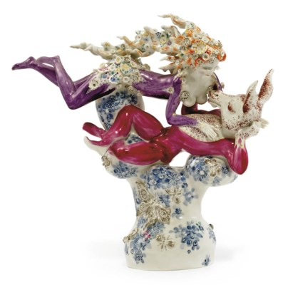 A MEISSEN GROUP OF BOTTOM AND