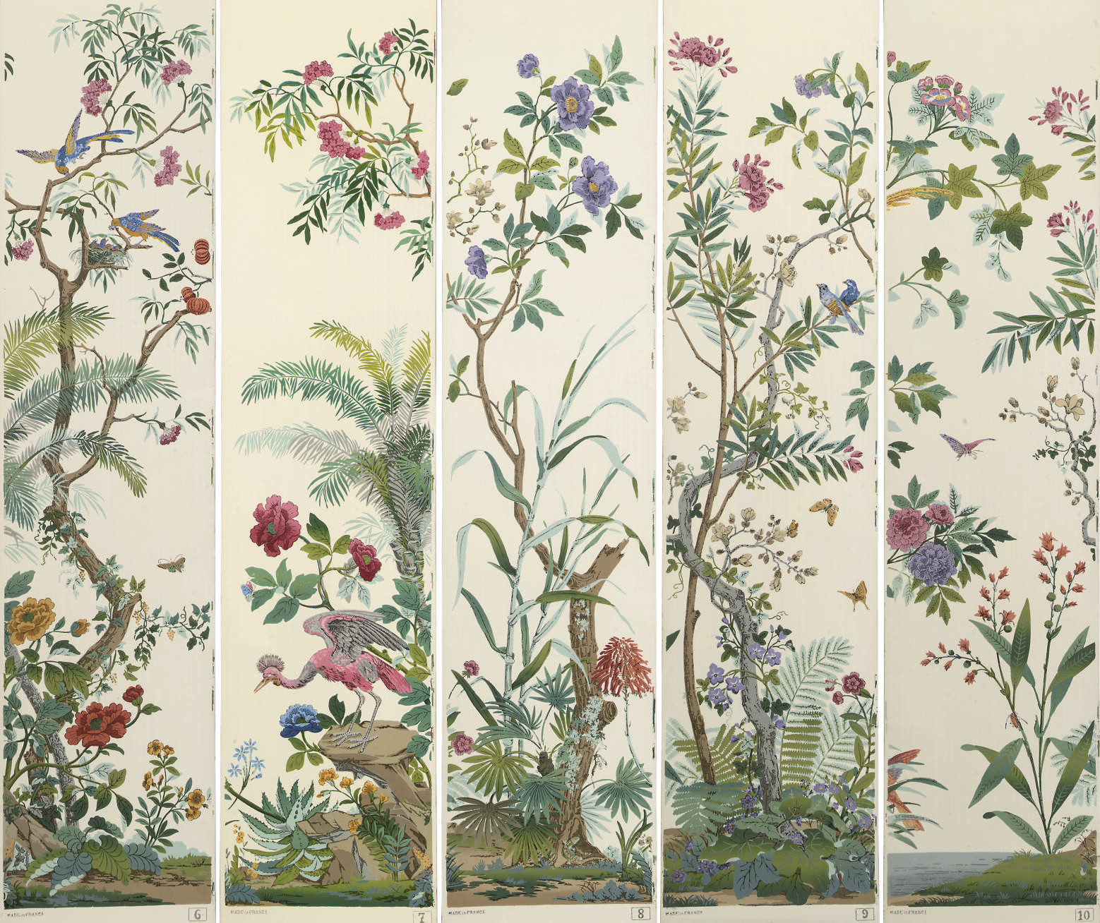 a french panoramic wallpaper 39 decor chinois 39 by zuber 20th century christie 39 s. Black Bedroom Furniture Sets. Home Design Ideas