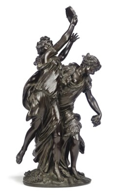 A FRENCH BRONZE GROUP OF TWO B