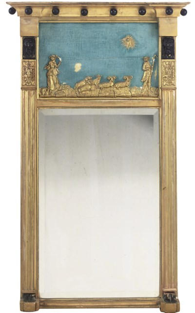A PAIR OF REGENCY GILTWOOD AND