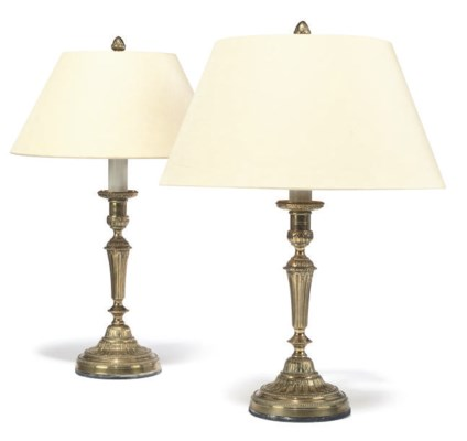 A PAIR OR FRENCH GILT-BRASS CA