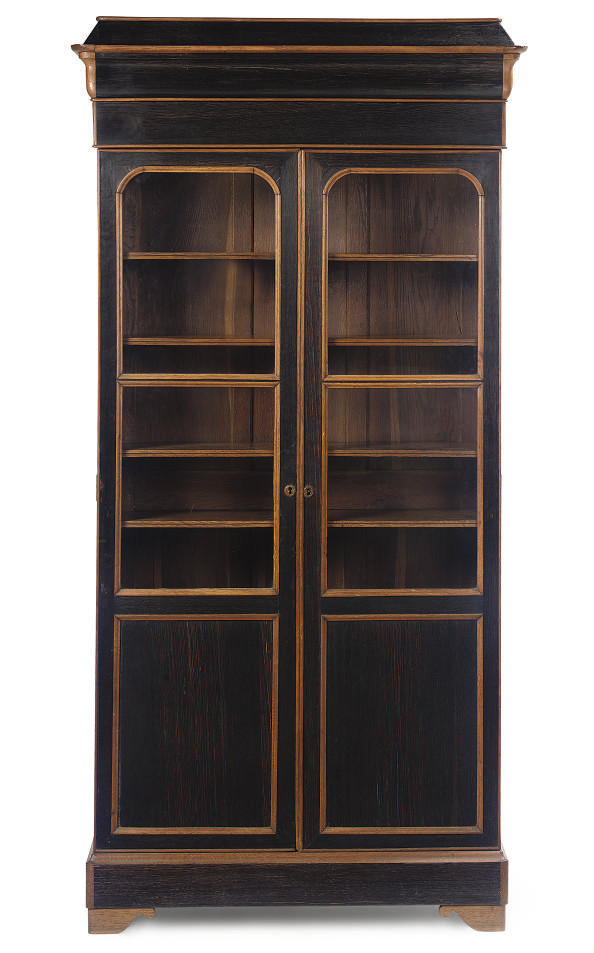 A FRENCH STAINED OAK BIBLIOTEQ